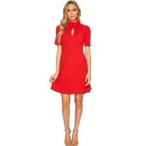NEW Donna Morgan Crepe Dress Red Sz 10 NWT